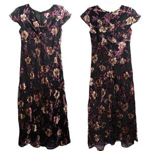 JM Collection Floral Burnout Maxi Dress 4 Petite